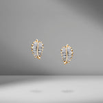 Mini Palm Leaf Studs