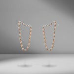 Diamond Bar Loop Earrings