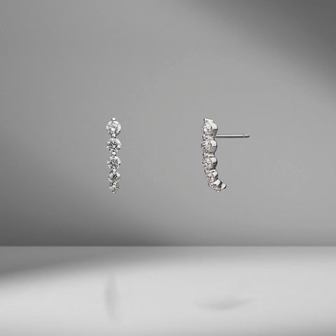 Short Diamond Cascade Earrings