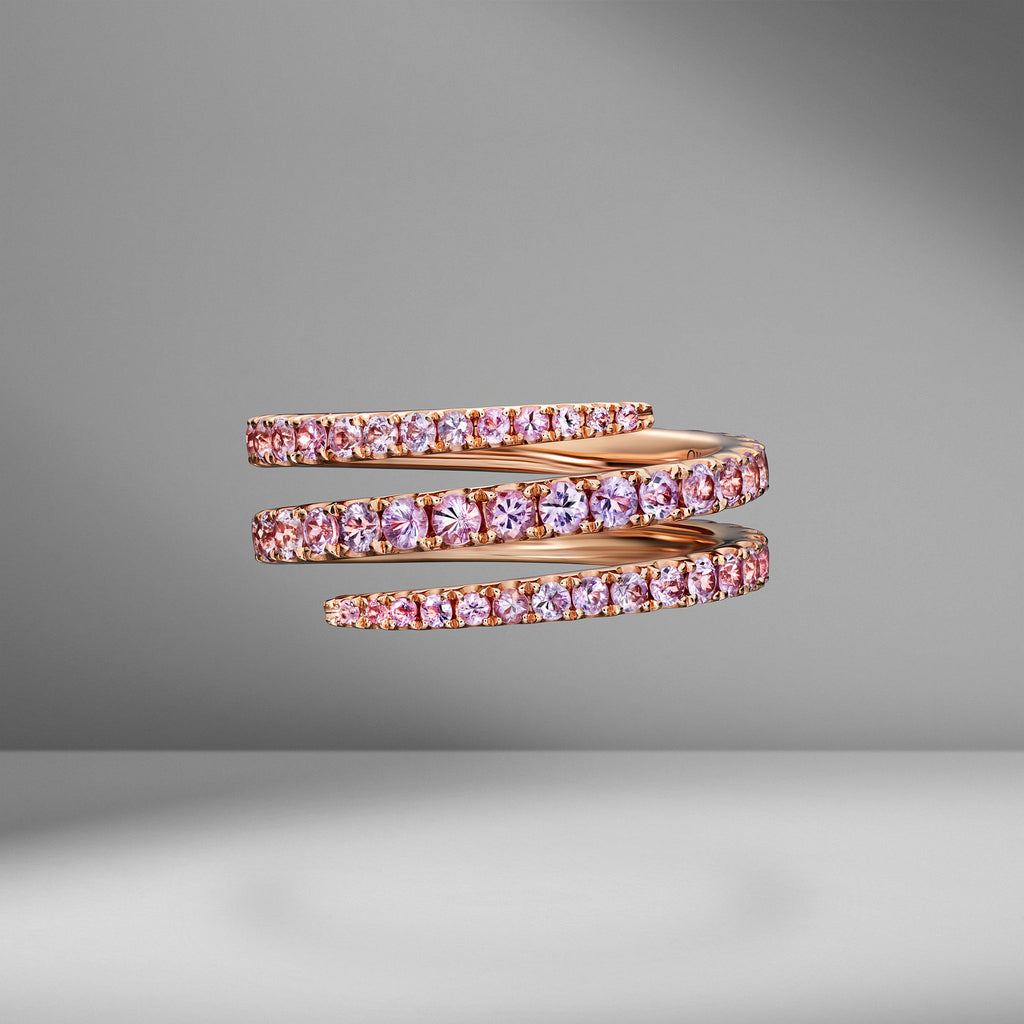 Pink Sapphire Coil Ring