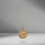 Limited Edition Karkinos Large Diamond Coin Charm Necklace