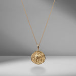 Limited Edition Elefante Large Diamond Coin Charm Necklace