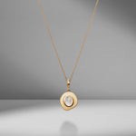 Small Byzantine Moonstone Coin Charm Necklace