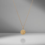 Small Cosmic Diamond Coin Charm Necklace
