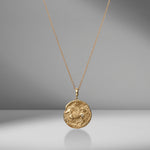 Limited Edition Pegasus Large Diamond Coin Charm Necklace