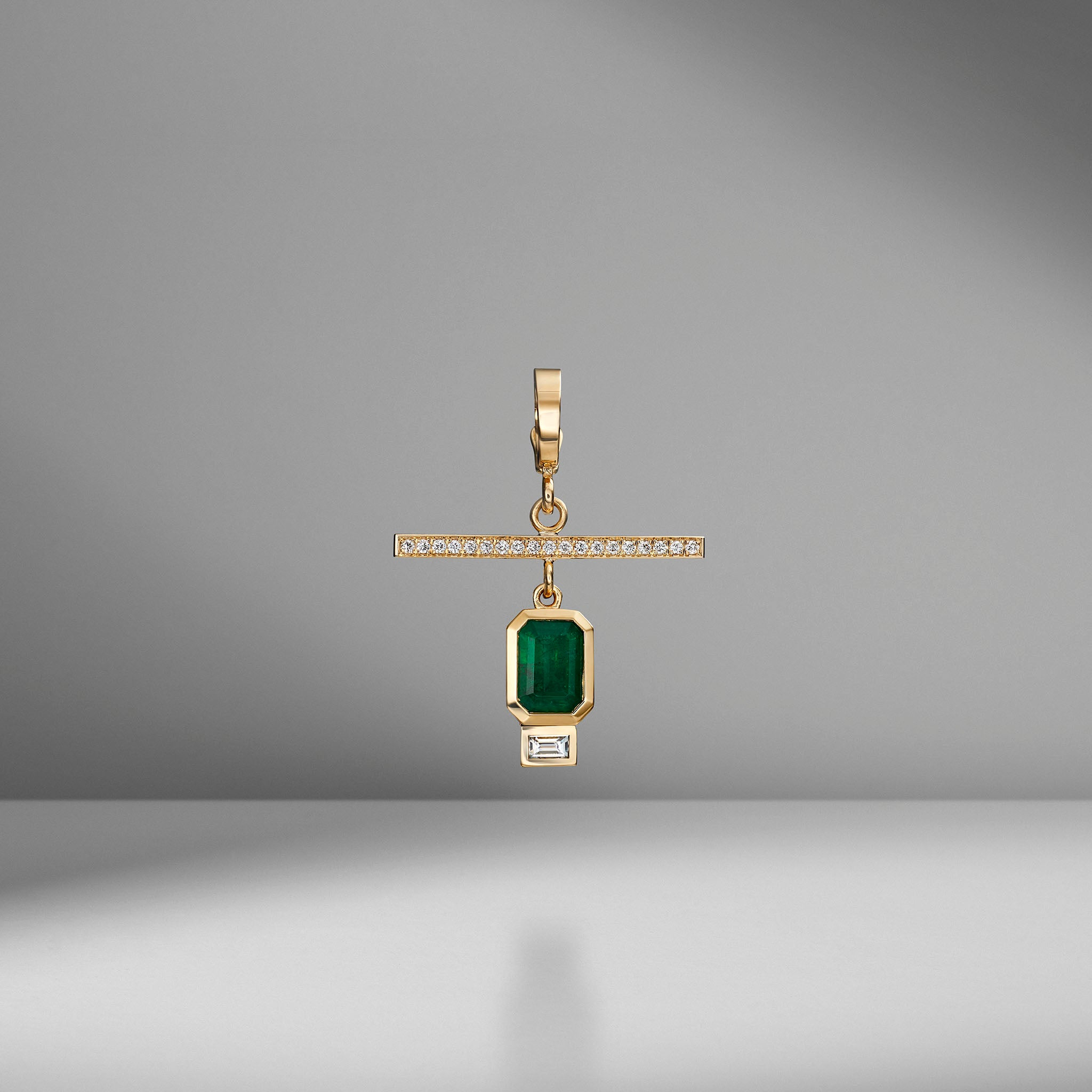 NESW Emerald Diamond Charm