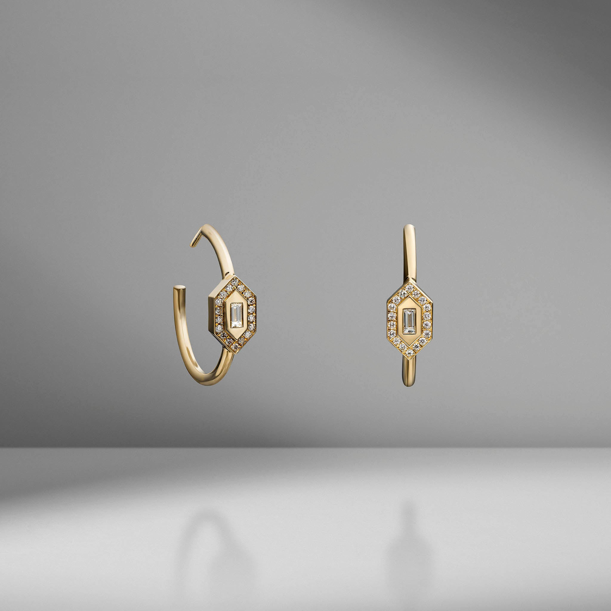 N/S Diamond Hoops