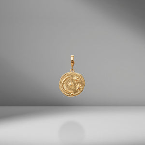 Small Cosmic Diamond Coin Charm