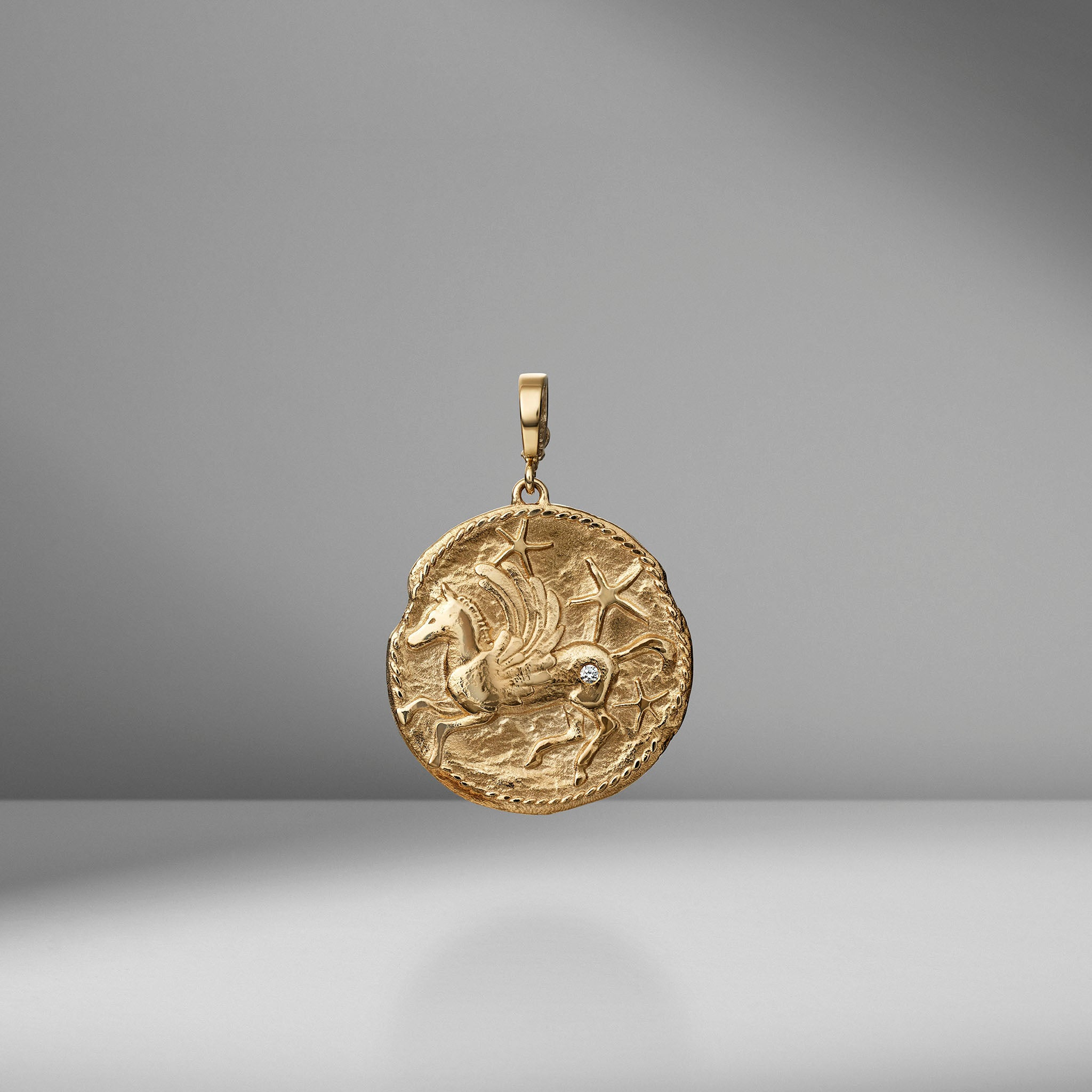 Limited Edition Pegasus Large Diamond Coin Charm