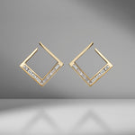 White Light Baguette Diamond Earrings