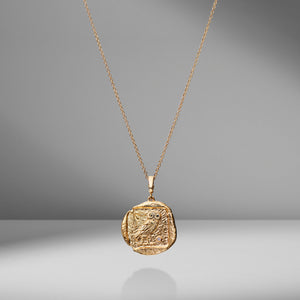 Limited Edition Owl of Athena Diamond Coin Charm Necklace