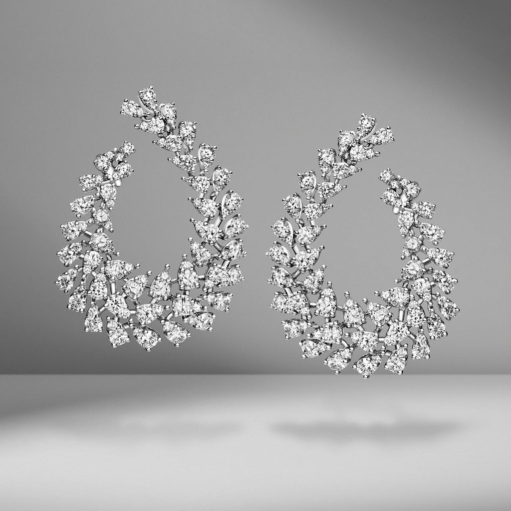 Diamond Garland Earrings