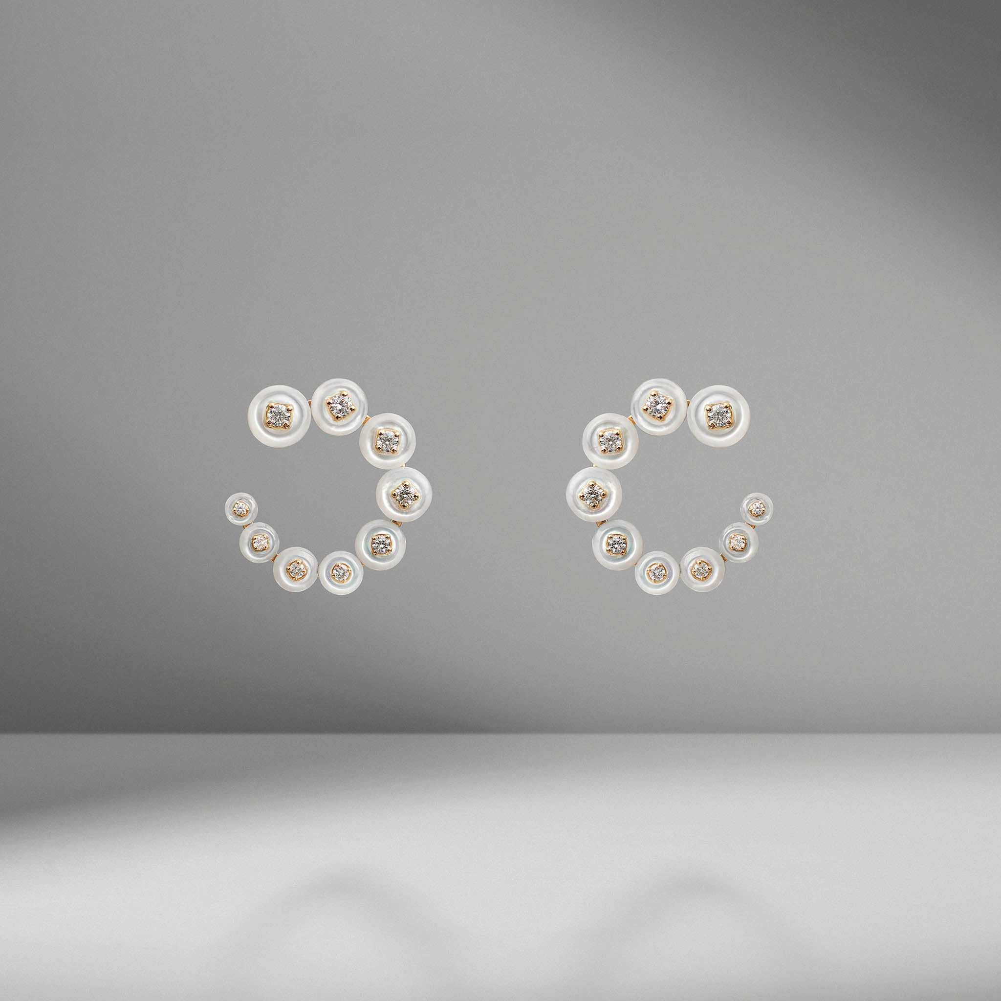 Surrounding Small Circle Earrings