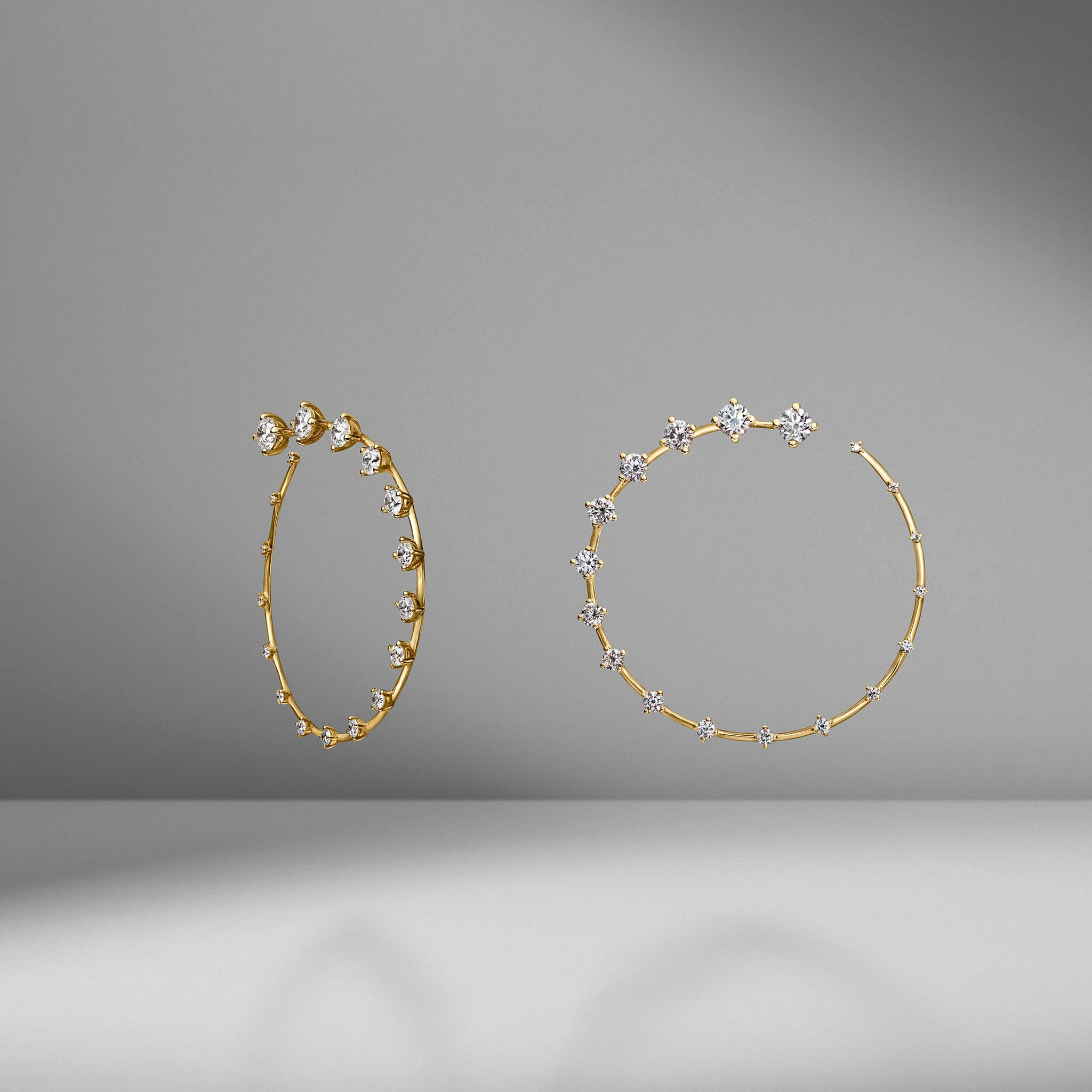 Diamond Circle Large Earrings