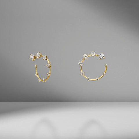 Diamond Circle Small Earrings