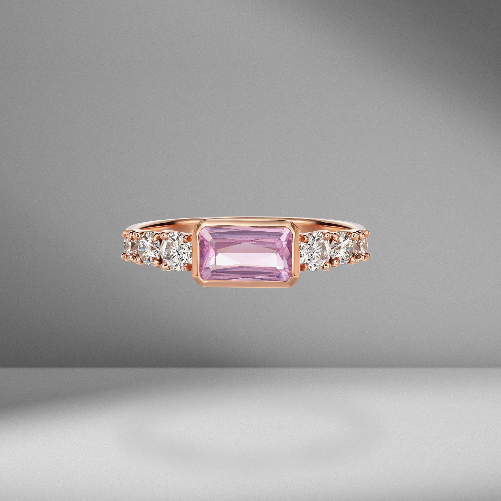 Toujours Pink Sapphire and Diamond Ring
