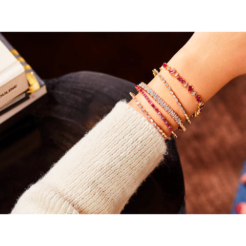 Ruby & Diamond Bangle