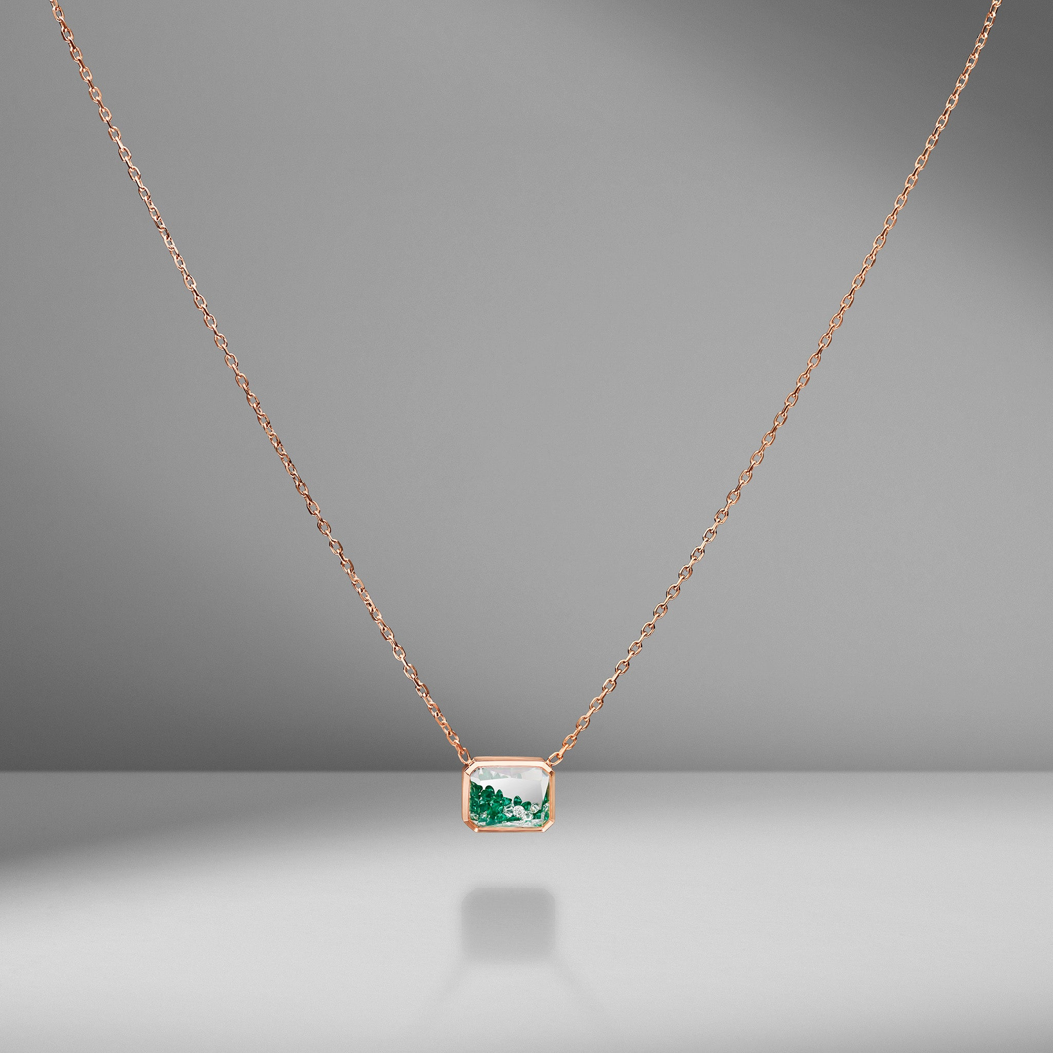 Emerald Shaker Pendant Necklace