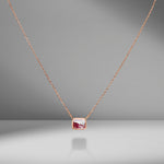 Ruby & Diamond Shaker Pendant Necklace