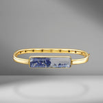 Diamond & Blue Sapphire Shaker Bangle