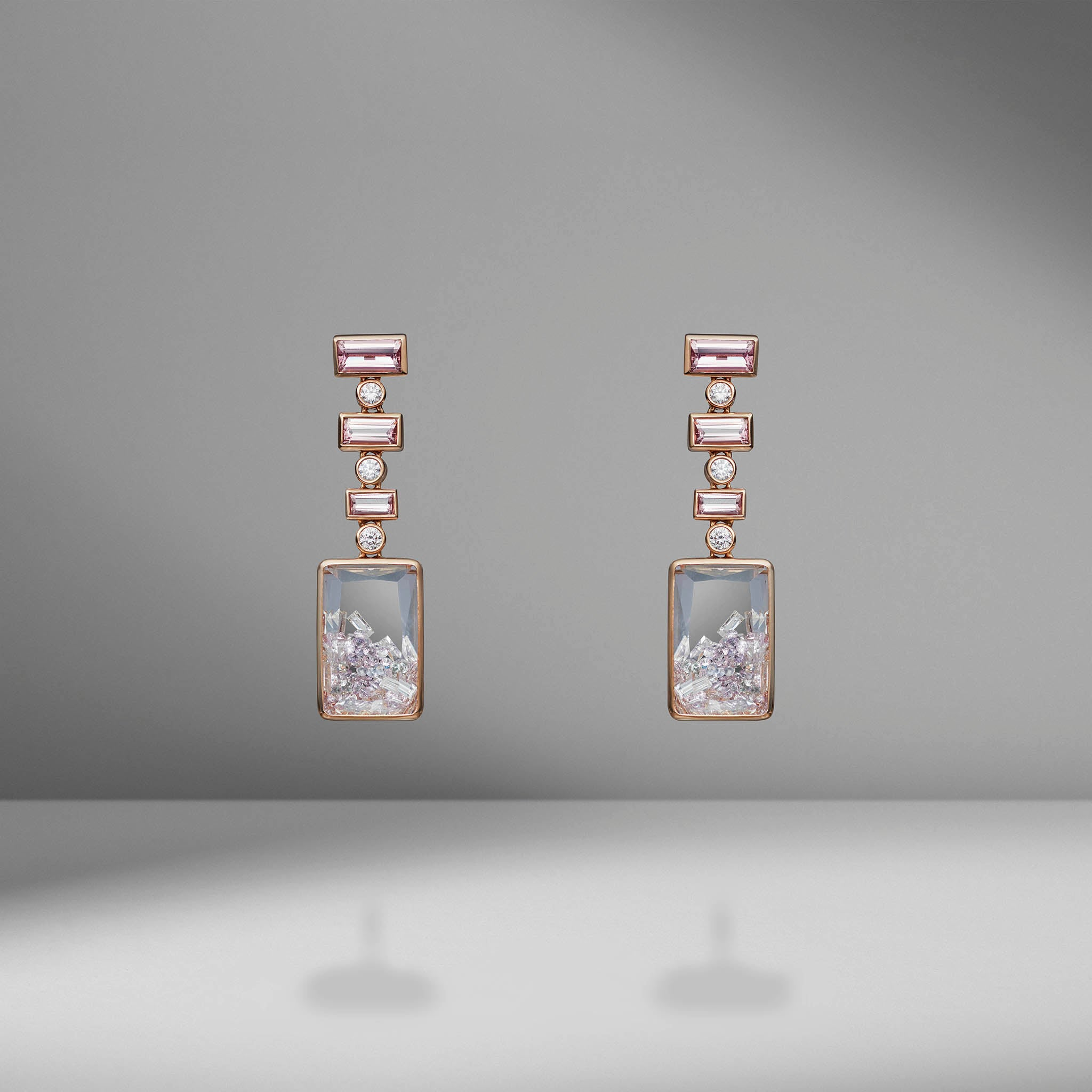 Malaya Garnet and Diamond Shaker Earrings