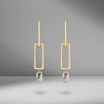 Duplo Forma Earrings