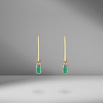 Forma Emerald Earrings