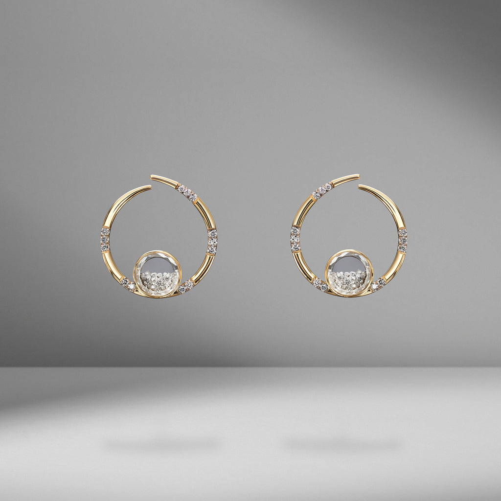 Caracol Diamond Shaker Earrings