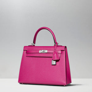 Kelly 25cm in Rose Pourpre by Hermès