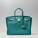 Birkin 35cm in Malachite