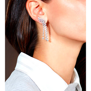 Pear Shape Diamond Cascade Earrings