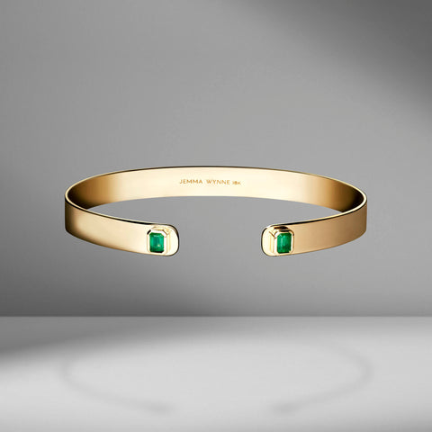 Prive Emerald Cuff by Jemma Wynne