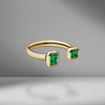 Prive Emerald Open Ring