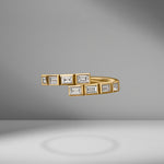 Modern Deco Diamond Baguette Ring