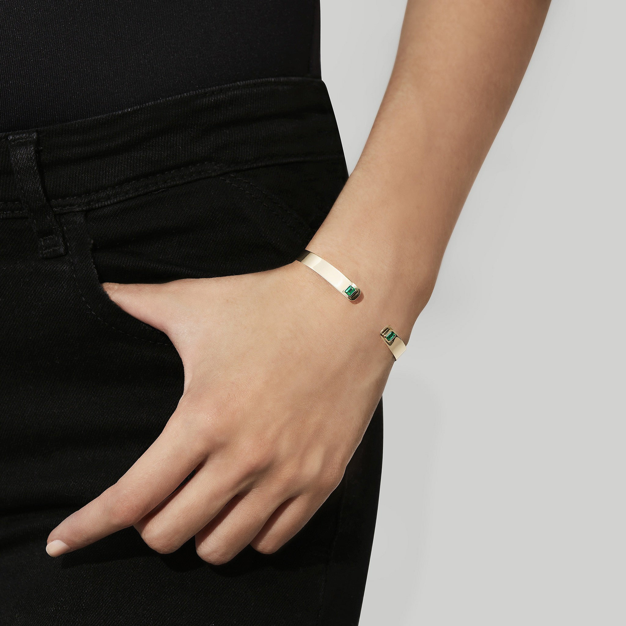 Prive Emerald Cuff by Jemma Wynne - Jemma Wynne
