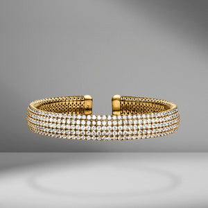 Five-Row Diamond Cuff