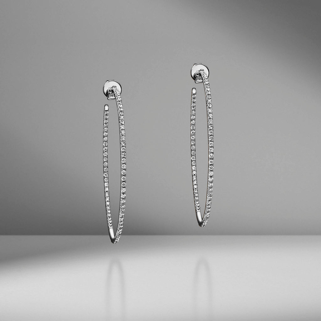 Micro Pavé Diamond Hoops
