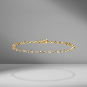Small Pear Shape East-West Tennis Bracelet