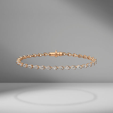 Medium Pear Shape East-West Tennis Bracelet