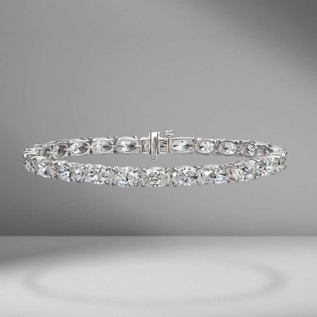 Oval Cut Diamond Tennis Bracelet 1.90 carats
