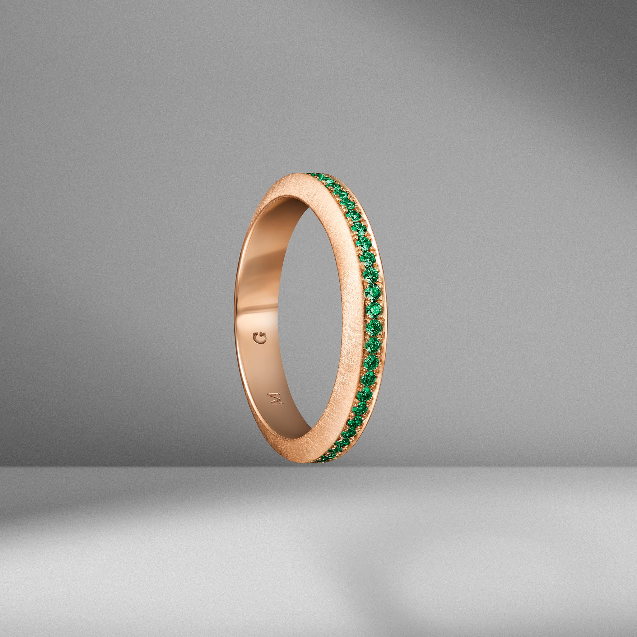 Beveled Edge Emerald Ring