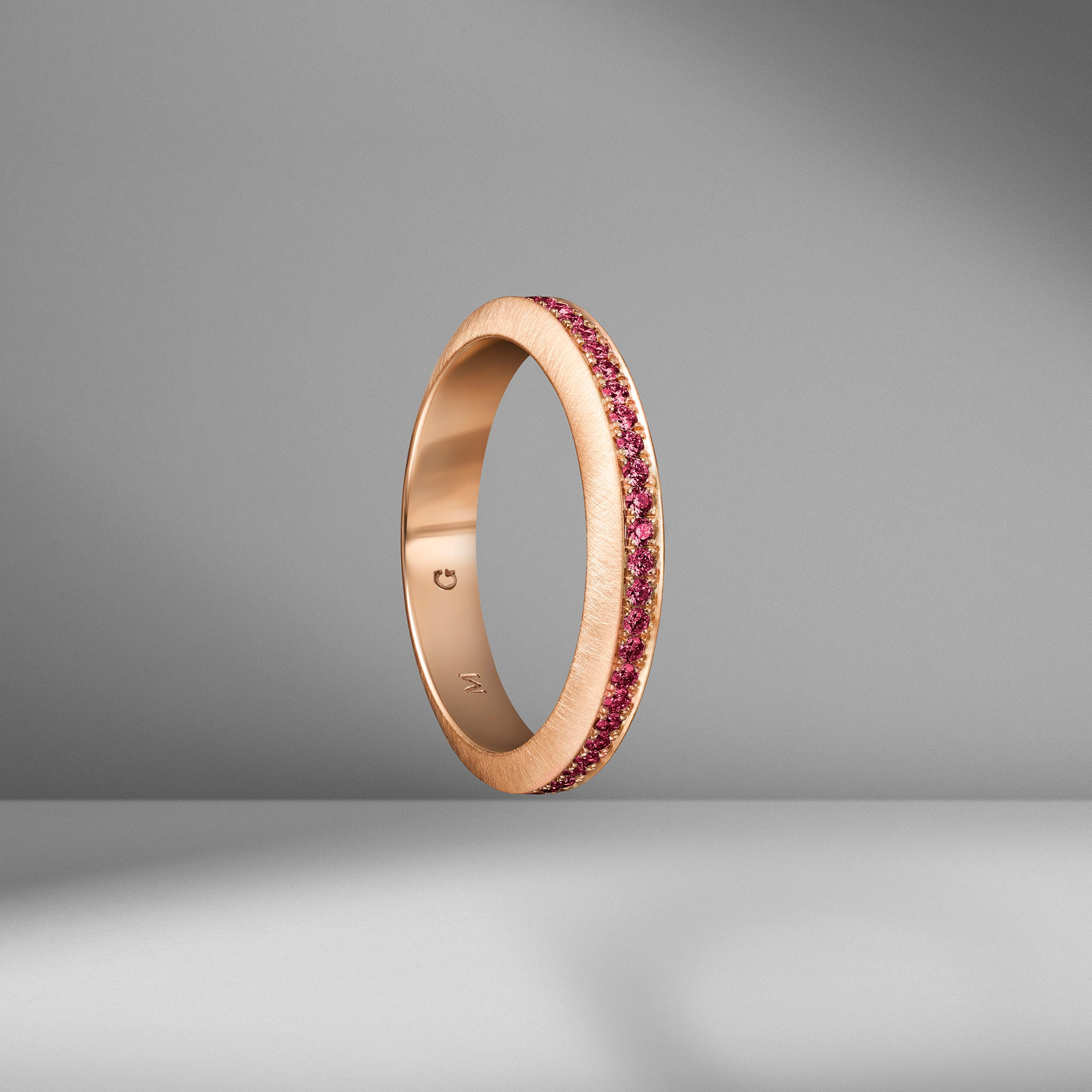Beveled Edge Ruby Ring