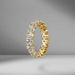 Oval Cut Eternity Band .25