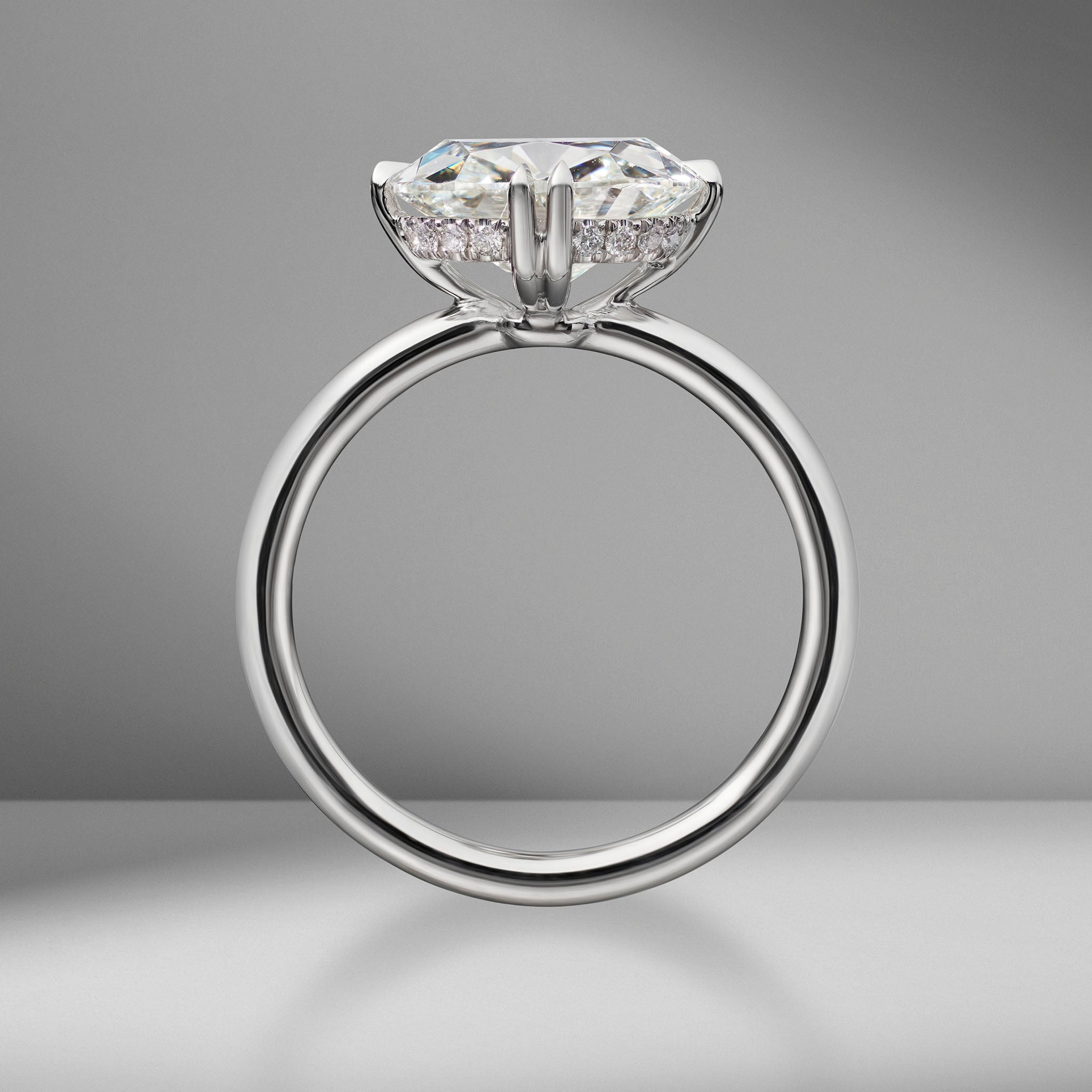 Antique Cushion Cut Solitaire Engagement Ring