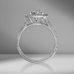 Round Brilliant Cut Engagement Ring with Split Shank Diamond Pavé