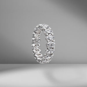 Oval Cut Eternity Band .30