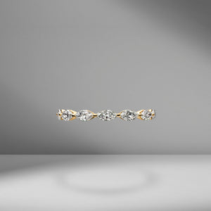 East-West Set Marquise Eternity Band .10