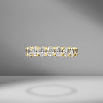 Oval Cut Eternity Band .20