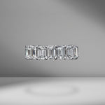 Emerald Cut Eternity Band .50