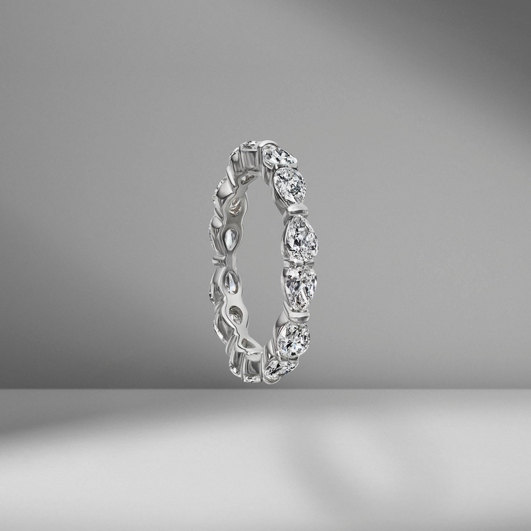 Pear Shape Eternity Band .10